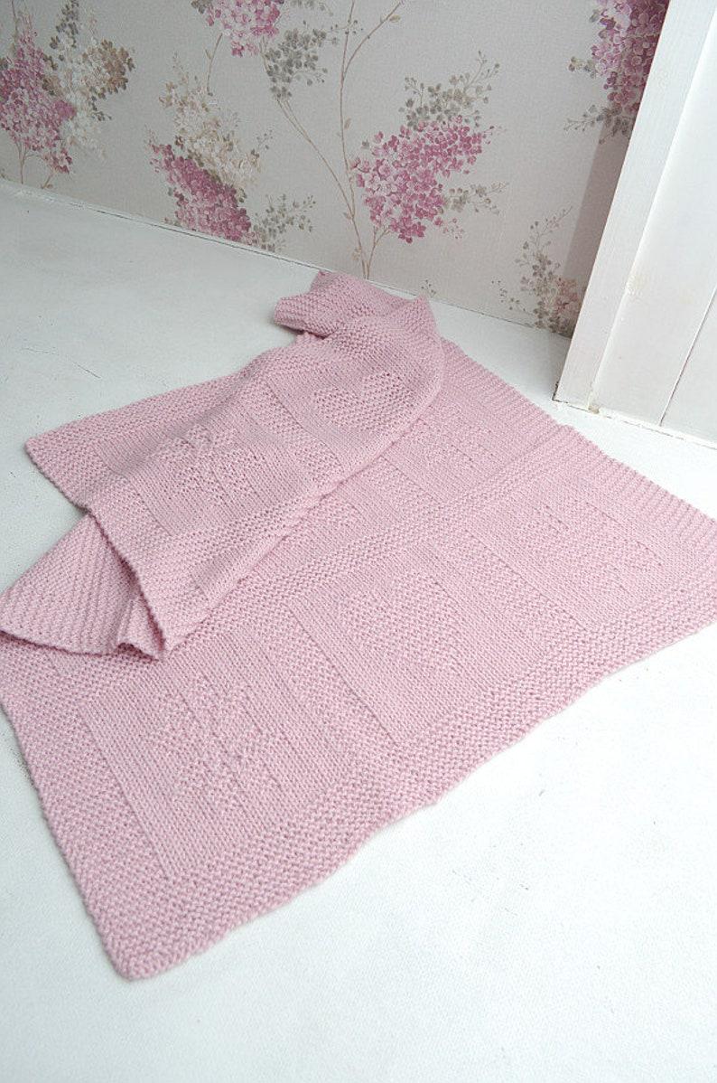 Butterfly heart star baby blanket Reversible blanket 100/% natural wool hanknit Pink Baby Blanket Knit merino wool alpaca