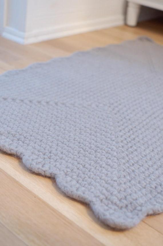 Slaapkamer Deken Grey Wol Haak Rechthoekige Tapijt Bed Rugs Etsy