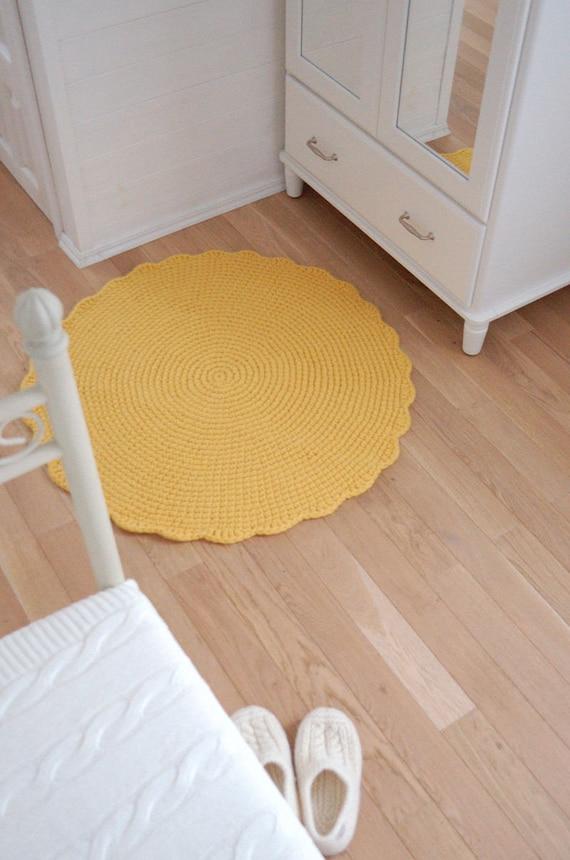 Gelben Teppich runden Häkeln Wolle Teppich Kinderzimmer Sun