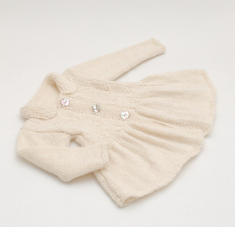 2f3bf8630ec9 Baby Alpaca Cable Knit Jacket Coat for a girl Hand knit Baby