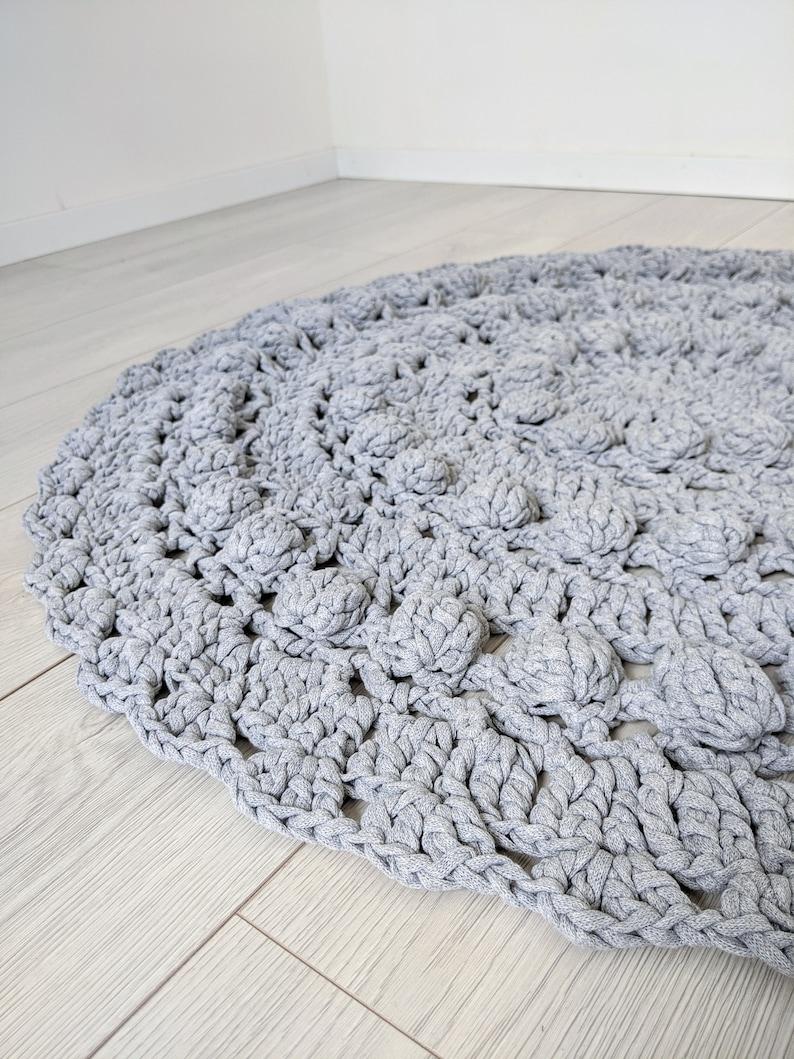 Decorative rug Crochet Bubble rug 3D image 0
