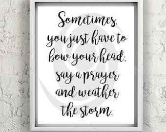 Inspirational Art, positive spirit, weather the storm, survivor art, motivational art