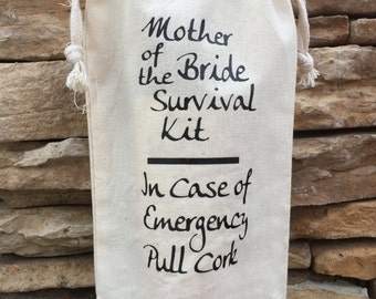 muslin wine bag, family gift, muslin gift bag, mother of the bride, brides mother gift, wedding gift