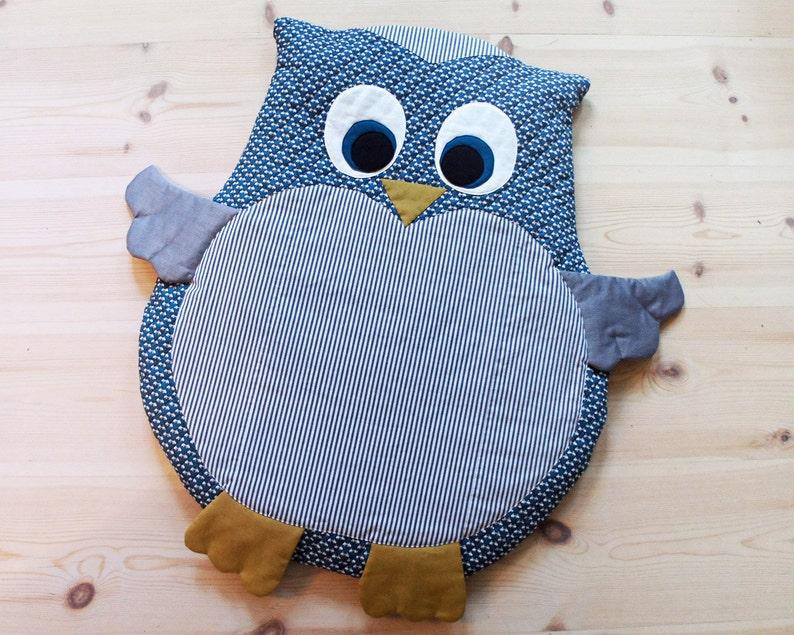 Owl baby mat / play mat / floor cushion DIY tutorial PDF image 0