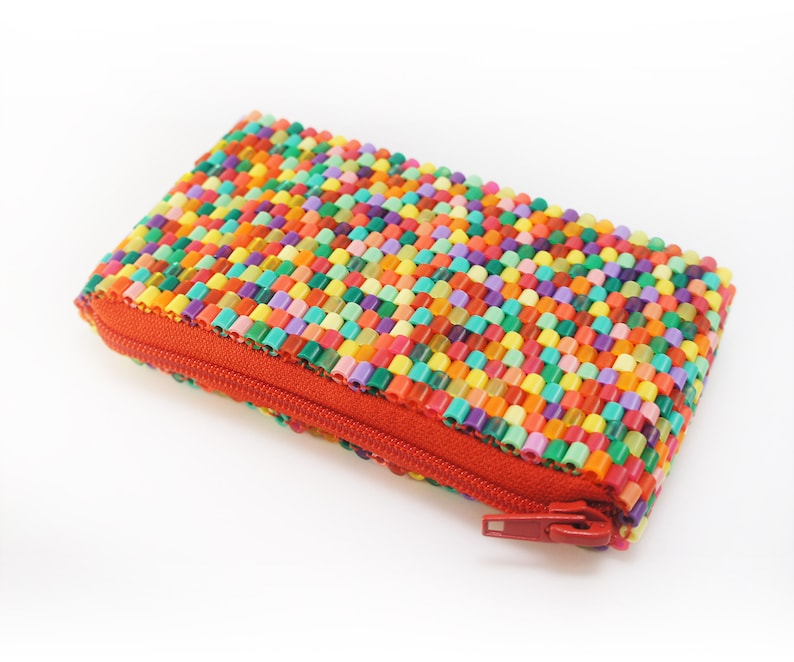 Hama Perler Beads Purse DIY Pattern Tutorial Guide and How image 1