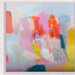 extra large colorful abstract modern wall art pop art abstract original painting by Camilo Mattis