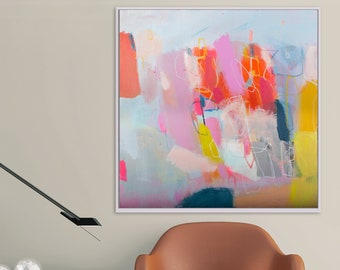 Modern art abstract original painting, extra large wall canvas art abstract by Camilo Mattis
