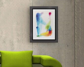 Abstract colorful modern painting, abstract art original acrylic, abstract modern wall art, original blue abstract art