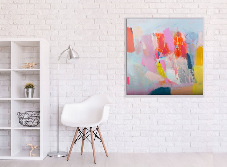 extra large colorful abstract modern wall art pop art abstract image 0