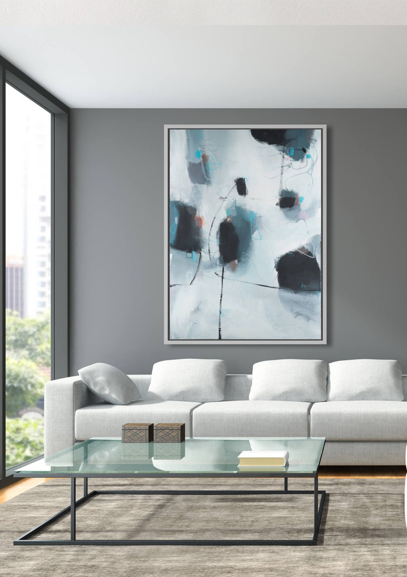 Abstract print large modern wall art abstract painting print back and white wall decor living room wall art camilo mattis