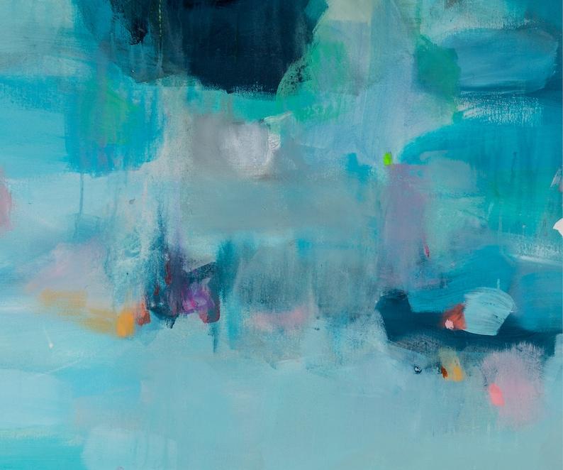 seascape print abstract by Camilo Mattis Extra large blue abstract art art print ocean print wall art print large print