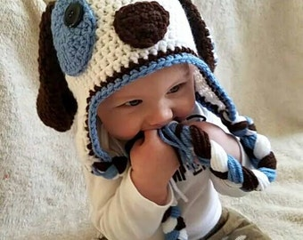 Baby crochet puppy hat