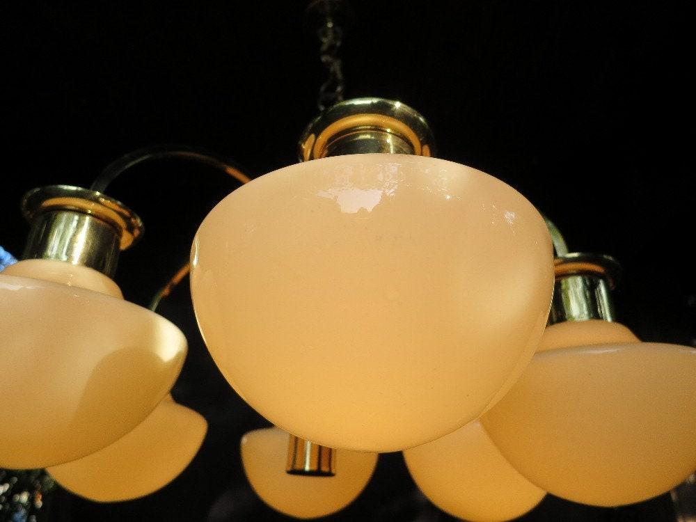 Anni ' 70 Vintage Lampada A Sospensione Realizzata In