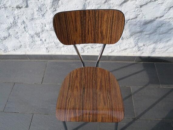60s cucina formica ottica legno sedia