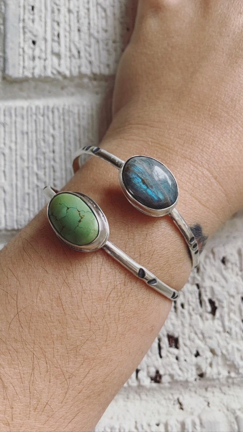 Boho Bracelet for Women Gifts for her Labradorite Gemstone Bracelet Labradorite Cuff Bracelet