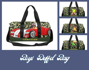 Camo Kids Overnight Travel Bag,Personalized Bags For Boys,Duffel Bag, Boys Luggage, Duffle Bag,  Boys Gifts Airline Carry On, Toddler Bags