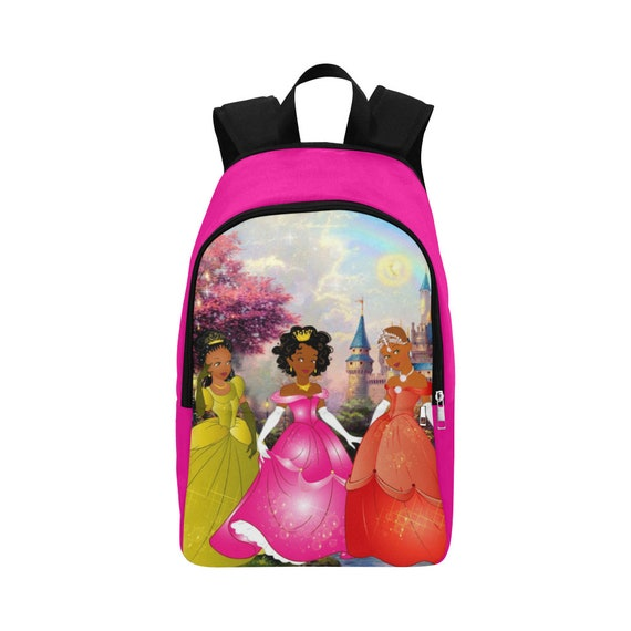 Black Princesses Disney Black Girl Backpack Back to School  bb7779d54c8dc