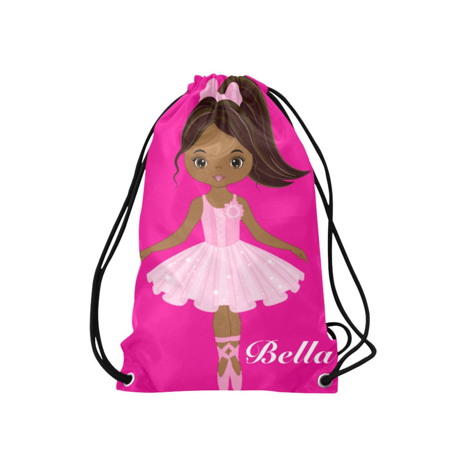 personalized drawstring backpack - girls dance bag- ballerina backpack for girls - ballet dance bag - ballet cinch sack - ballet