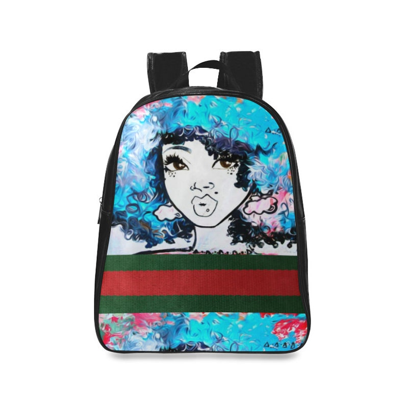 LARGE Black Girl Magic Custom Fabric African American Backpack  503c8835ca3ef