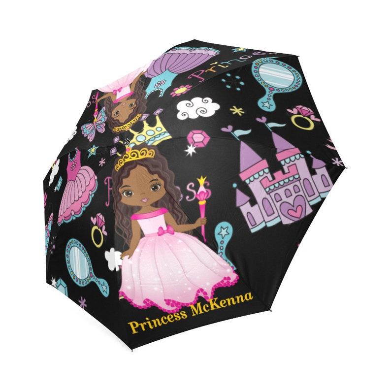 260e05825649 Umbrellas, Personalized Kids Rain Umbrella,Girl's, Children Custom Fold  able Large Umbrella -Black