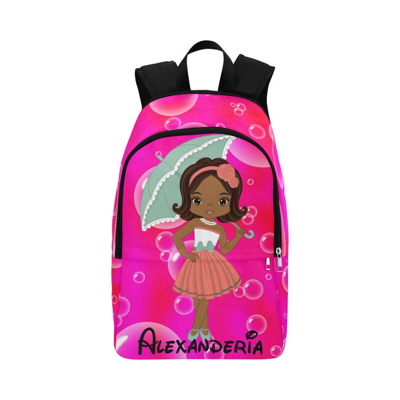 dad1acea4a03 Girls Bookbag Backpack Personalized Backpack African | Etsy
