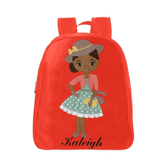 Melanin Poppin  Black Girl Magic Backpack with Custom Name   Etsy 2faff69e46
