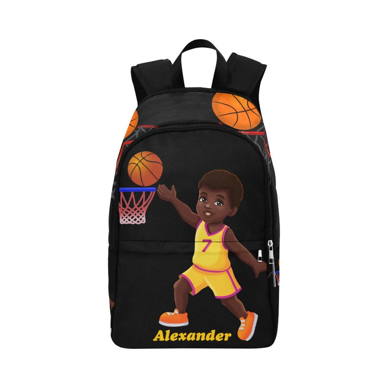 2d28c45fe6 Basketball Large Backpack, Boys Backpack, Boys School Bag,Back To  School,Personalized Backpack For Boys,African American,Brown, Black Boys