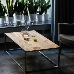 Couchtisch, Industrielle Tisch Holztisch Auf Metallrahmen Beine, Rustikal  Und Industrie Zurückgefordert Scheune Holz Möbel