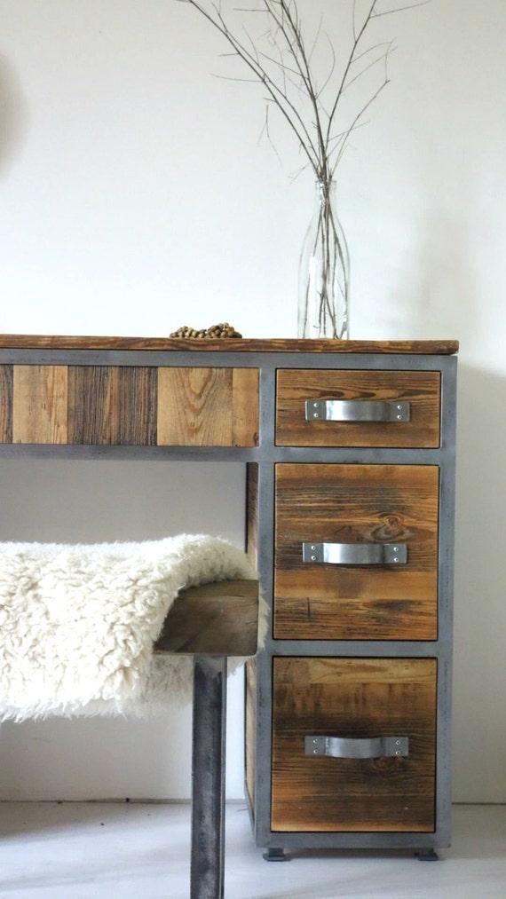 Schminktisch Moderne Konsole Spiegel Industrielle Kommode Sideboard Schubladen Rustikale Zuruckgefordert Scheune Holz