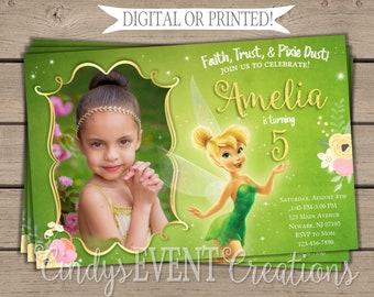 Tinkerbell Invites Etsy