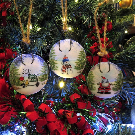 Snowman ornaments heart shaped ornaments item# Snowman 102