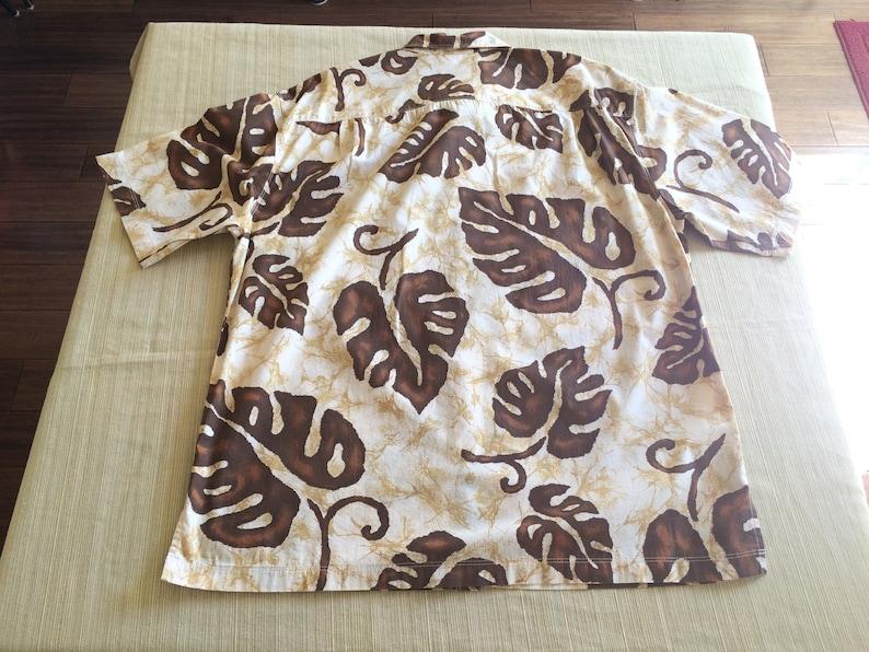 Pau Hana Hawaii tropical leaf print Hawaiian shirt size XL Reduced