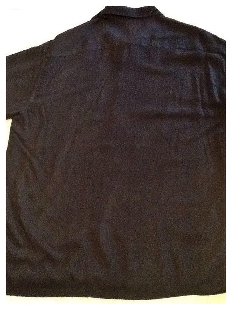 John/'s Bay Island Style Hawaiian shirt size large St Stylish shirt in black with two vertical tan panels.