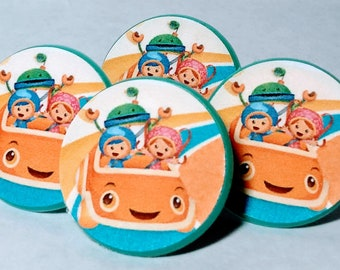 TEAM UMIZOOMI Cupcake Toppers - Party Favor - Rings - Birthday Supplies - 12 ct