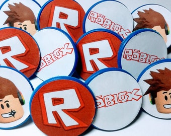ROBLOX Cupcake Toppers - Party Favors - Birthday - 12ct