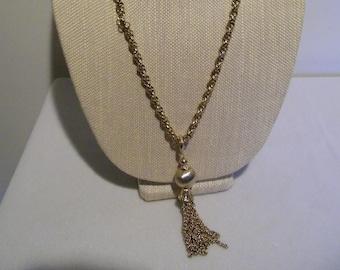 Vintage Goldtone Tassel Necklace