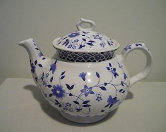 Vintage Sadler Bristol Blue Floral Teapot