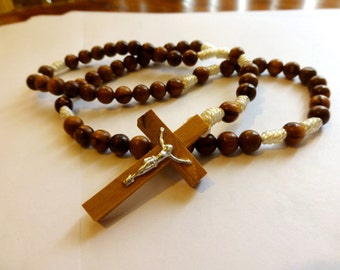 Olive Wood Rosary Beautiful Gift Or Prayer Item