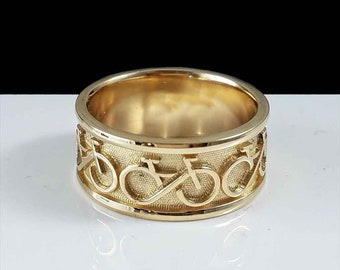 BIKE FOREVER Ring in 14KT Yellow Gold