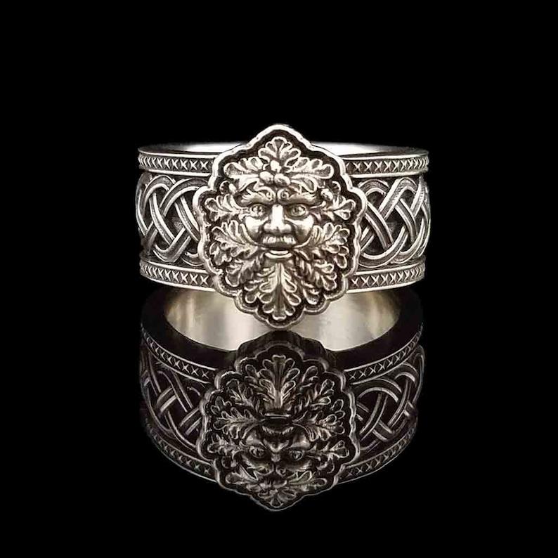 DARK MOON GREENMAN in .925 Sterling Silver