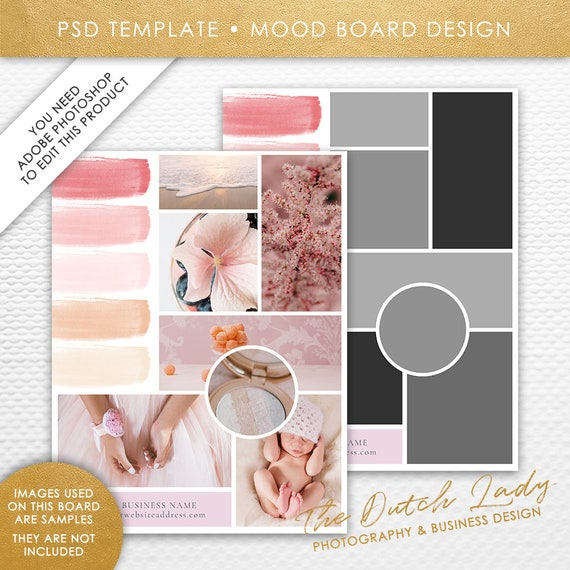 photoshop mood board template photography vision board etsy