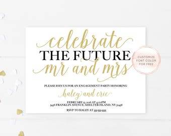 Engagement Party Invitation, Engagement Invites, Engagement Party Decorations, Printable Invitations, Engagement Invitations, Engaged [357]