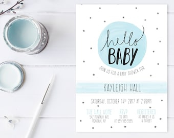 Baby Shower Invitation, Baby Shower Invitation Boy, Baby Shower Brunch, Baby Shower Invites, Boy Baby Shower Invitations, Baby Boy [660]