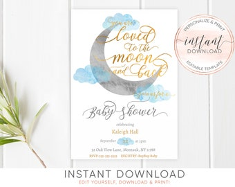 Instant Download Bridal Shower Invitation Invitation Etsy