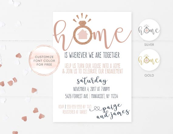 Engagement Housewarming Invitation Party