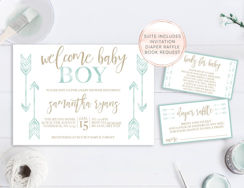 Baby Shower Invitations For Boys Design The Best For The Special image 0 ...