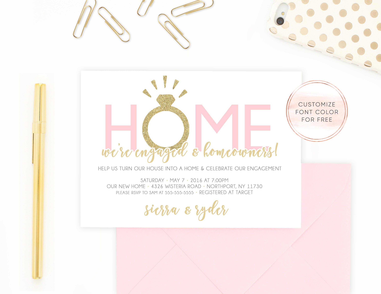 Einladung zur Verlobung Housewarming-Party-Einladung unser