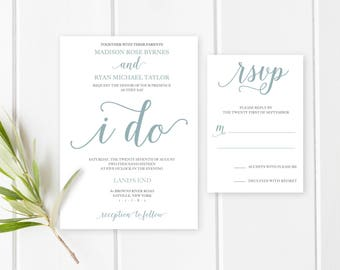 Wedding Invitation, Printable Wedding Invitation, Wedding Invites, Wedding Invitations, Custom Wedding Invitation, Engaged, Printable [342]