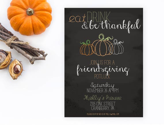 friendsgiving friendsgiving invitations friendsgiving etsy