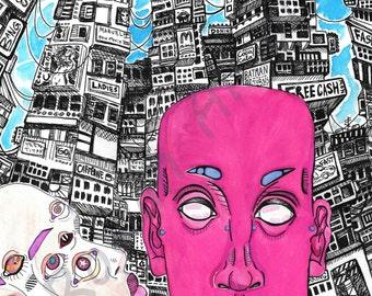 2 Kids in The City - Art Print